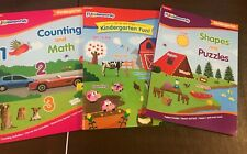 3X Kindergarten Fundamentals Write & Wipe Shapes & Puzzles Math & Count Books