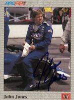 John Jones 1991 All World Indy Signed Card Auto