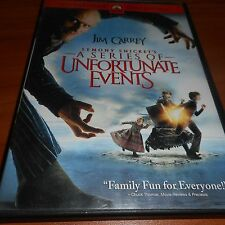 Lemony Snickets A Series of Unfortunate Events (DVD, 2005, Widescreen) Used