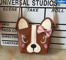 Boston Terrier French BullDog Breed Ladies Handbag Purse Brown / Red color  NEW