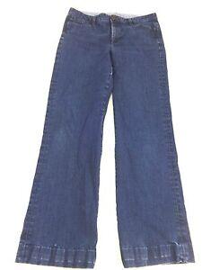 Banana Republic Damen Niedrig Rise Boot Cut Dunkle Waschung Jeans Größe 30 R