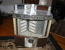 Vintage Rock-Ola Coin Op Table Top Diner Jukebox Wall Mount Chrome Personal