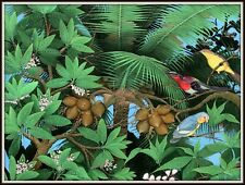 """Balinese Painting  """"Getting Together in the Jungle""""  Awesome!   (31""""W x 23""""H)"""