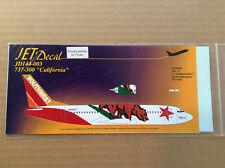 """Jet Decal, Southwest Boeing 737-300, """"California"""", scale 1/144 - Rare"""