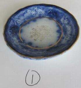 1895-1906 Maddock and Sons Royal Vitreous Dainty Flow Blue Butter Pat #1