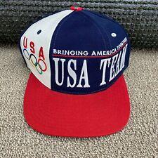 Team USA Olympics Hat Starter Snapback Cap 1996 Atlanta jersey jacket VTG