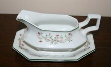Johnson Bros Eternal Beau Gravy Boat & Stand