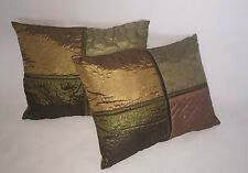 "New Set Of 2 Revman International Decorative pillows Nylon/Polyester 12""*16"""