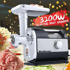 3200W Heavy Duty Commercial Electric Meat Grinder Sausage Maker Mincer Stuffer photo