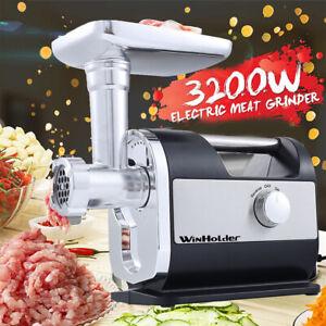 3200W Heavy Duty Commercial Electric Meat Grinder Sausage Maker Mincer Stuffer