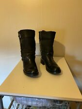 Ladies Duo Black Ankle Leather Boots Size 7