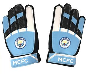 Man City Kids Gloves Official Football Goalkeeper Gloves - New