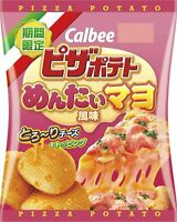 Calbee Pizza Potateo Mentai Mayo Potato Chips Dagashi Snack 12 Bags x 60g(6377N)