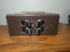 Square D Type MO-4 Quad 4P (4-15A 1P) 120/240VAC Circuit Breaker Brown Face Used