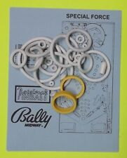 1986 Bally / Midway Special Force pinball rubber ring kit