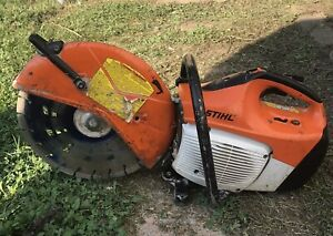 """STIHL TS420 14"""" Concrete Water Cut Off Saw With Blade"""