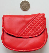 Small red coin purse faux leather by Pursonality ladies girls accessories