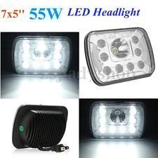 7x5'' 55W LED Headlight Hi/Lo Sealed Beam W/ DRL H4 Headlamp For Jeep/Wrangler