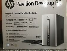 New & Sealed Box!  HP Pavilion Desktop PC 570-p047c Core i7-7700 16gb 2TB GT 730