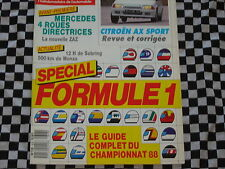 AUTO-HEBDO 1988 CITROEN AX SPORT / GUIDE SAISON FORMULE 1 / 12 H SEBRING