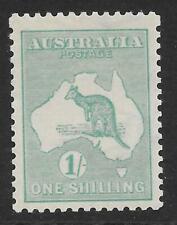 More details for australia 1927 1/- blue-green with wmk sideways sg 40ba (mint)