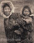 1905/72 EDWARD CURTIS Folio Native NUNIVAK INDIAN Mother Child Alaska Art 16X20