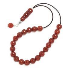 Worry Beads Komboloi ~ Carnelian Gemstone Round beads & Sterling Silver