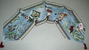 Winter Songbirds ~ Christmas Tapestry Table Runner