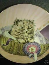 1985 Royal Worcester FIRST PRIZE Cat & Prize Ribbon Ltd Ed Plate