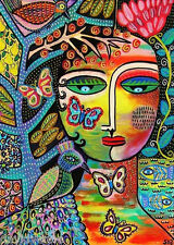 Sandra Silberzweig Peacock Butterfly Tree Goddess 8 X 10 Giclee Canvas Print