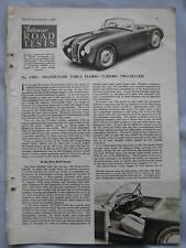 1953 Fazer-Nash Taga Florio Turismo Original Autocar magazine Road test