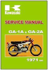 KAWASAKI Manual GA1 GA-1A and GA2 GA-2A 90-SS 90SS 1971 1972 1973 Service Repair