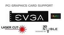 BLACK - RGB Addressable LED Backlit EVGA - GPU Anti-Sag Support Bracket Remote