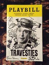 Tom Hollander And Cast Signed Travesties Opening Night Playbill