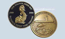 USS Dolphin AGSS 555 DBF USN Sub Submarine Coin Last Diesel Electric Submarine