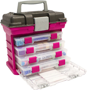 Creative 4 Small Utility Boxes Storage Options Grabn Rack System Small Magenta