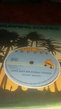 "burning sounds 12"" : DELROY WILSON-love got me doing things (hear)  roots reggae"
