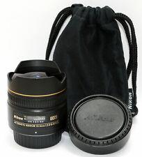 NIKON FISHEYE 10.5mm 1:2.8G Nikkor ED DX AF Lens JAPAN D300 D600 D7100 D800 D90