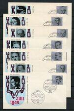 BUND Nr.431-438 SCHMUCK-FDC ESST BONN 20.7.1964 ME 100,-++ !!! (130110)