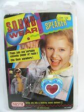 New VTG Cassette Player Earbud Clip On Speaker Heart Cupcake Nasta SoundWear