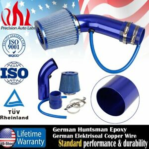 """Air Intake Kit Blue Pipe 3"""" +Cold Air Intake Filter+ Clamp+ Accessories for car"""