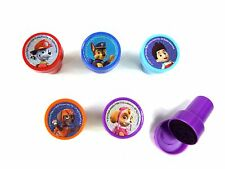 5PCS PAW PATROL SELF INK STAMPS STAMPER KIDS STATIONERY PARTY BAG #B