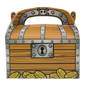 48pk Pirate Treasure Chest Treat Birthday Party Favors Candy Treat Loot Gift Box