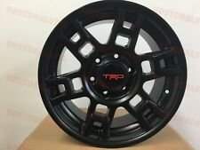 "SET OF 5 17"" TRD SEMA STYLE MATTE BLACK RIMS WHEELS FITS TOYOTA FJ CRUISER"
