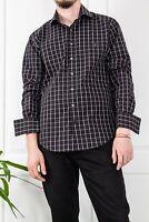 90`s YSL YVES SAINT LAURENT SHIRT DRESS BLACK CHECKED BUTTON UP FRONT LOGO L