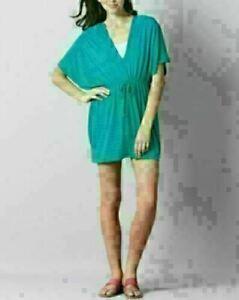 Ann Taylor LOFT Women's Teal Beach dress Cover up Kaftan Sarong Summer Swimwear