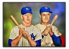 MICKEY MANTLE & TED WILLIAMS_SKETCH CARD PRINT_14/20