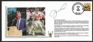Joe Montana Autographed Retirement Ceremony Triumph Cachet Envelope Postmark