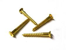 100 Stück MINI-Holzschrauben DIN 97 (Schlitz) Messing 1,6mm Durchmesser