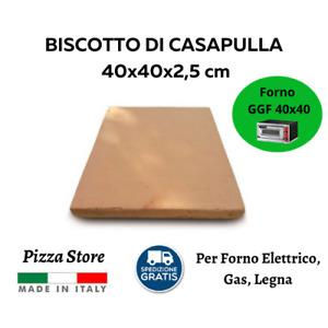 BISCOTTO DI CASAPULLA 40x40 - PIETRA REFRATTARIA PER PIZZA FORNO ELETTRICO GAS